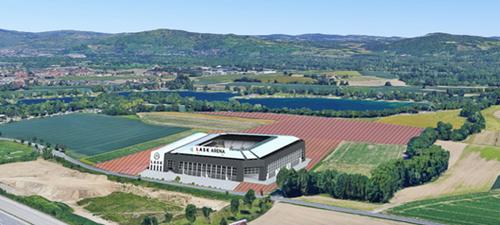 Projekt des Lask-Stadions (Visualisierung LASK)