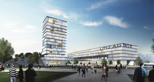 Projekt Neuland im Hafen (Rendering: LINZ AG)